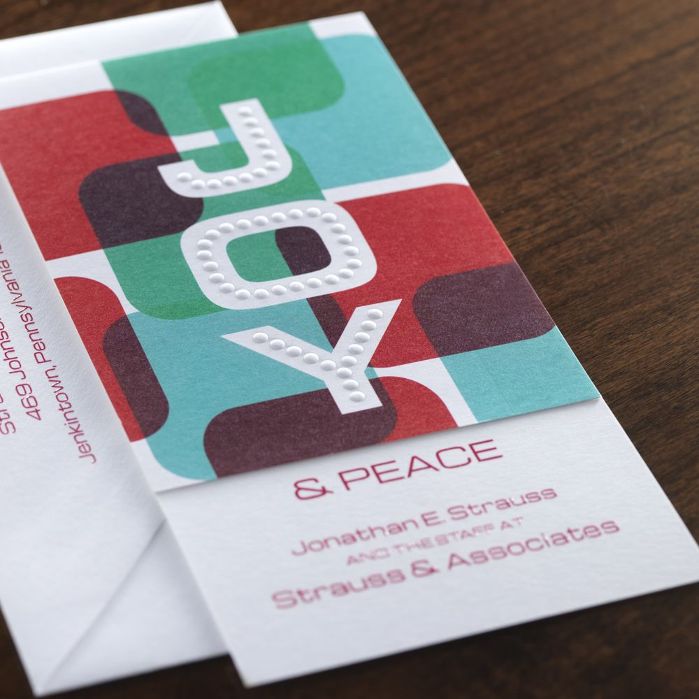 Joy Corporate Holiday Card by Checkerboard Ltd. Business