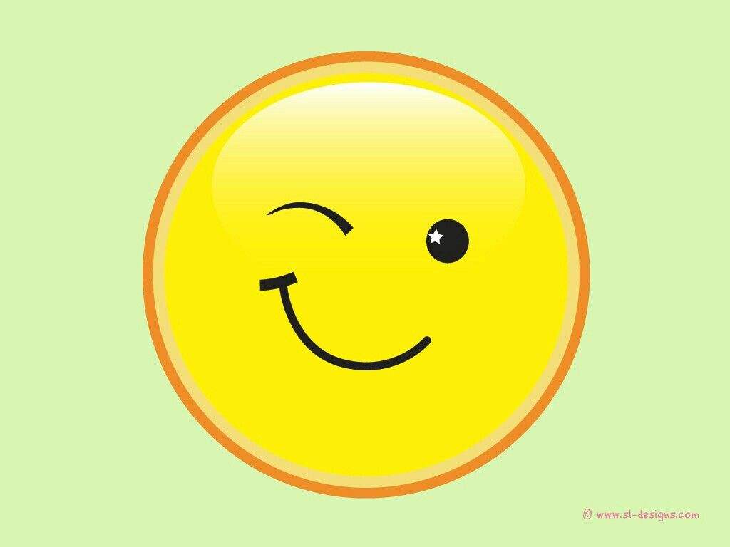 Winking smiley face | SMILE! | Pinterest