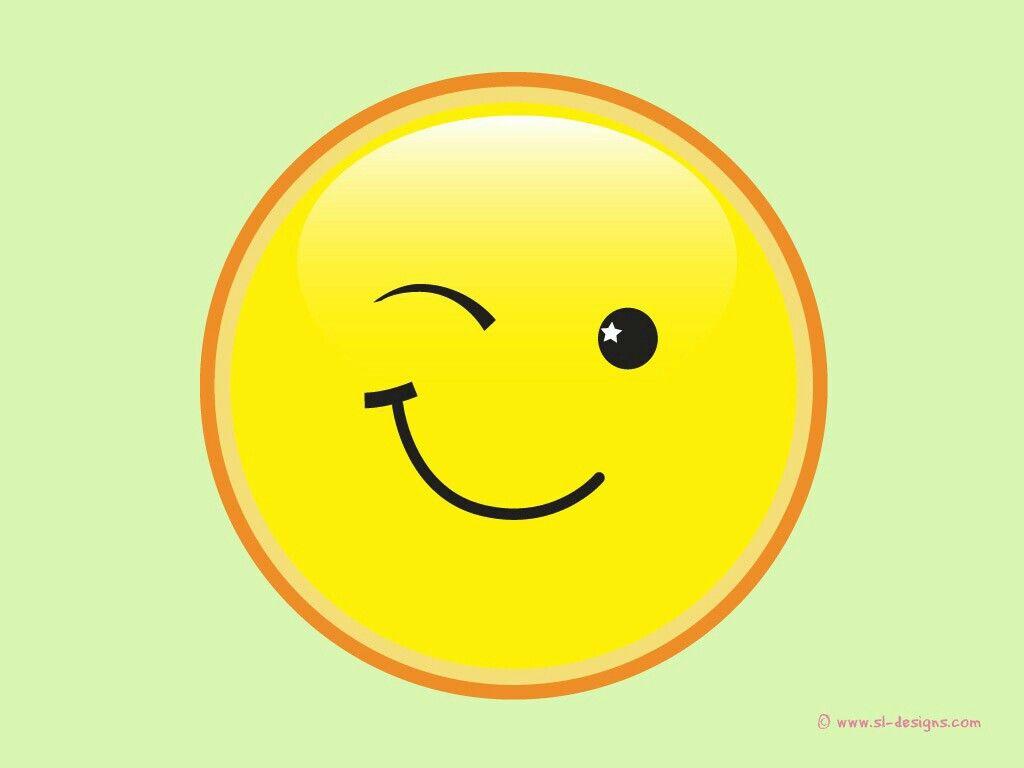 Winking smiley face | SMILE! | Pinterest