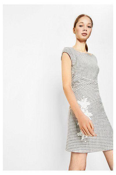 WOMAN KNITTED SHORT SLEEVE  DRESS #fashion #moda #circulogpr #primavera #guapa #happy #love #iloveyou #smilling #style #fashioninspiration #beautiful #desigual
