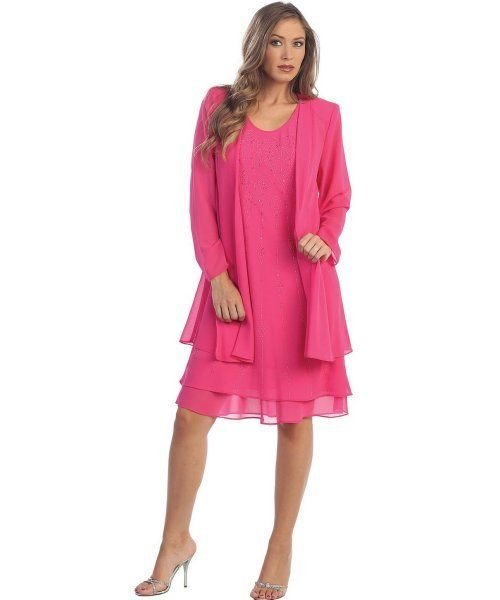 775ac6a1ad113 elegant two piece pink plus size mother of bride dress set jacket The Dress  Outlet