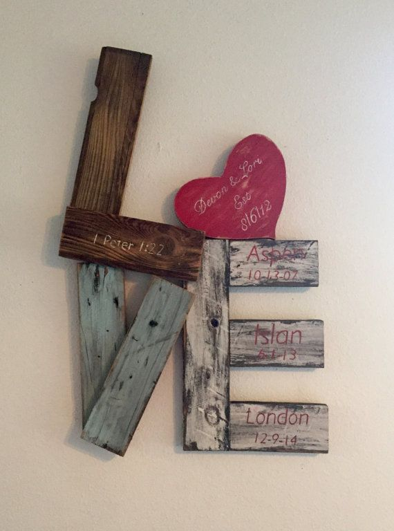 Unique Reclaimed Wood Love Sign Pallet Crafts Crafts Craft Projects