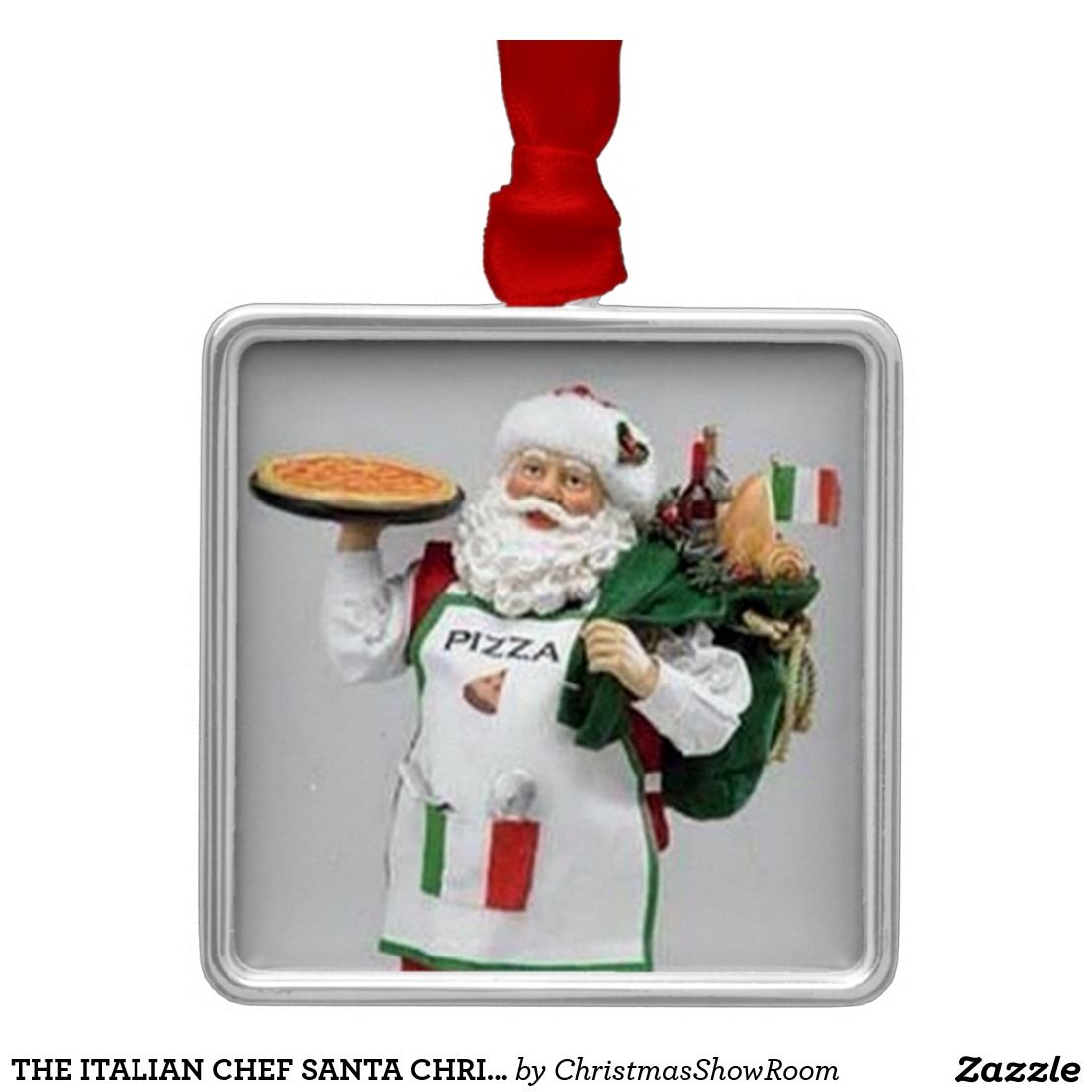 The italian chef santa christmas ornament | Italian chef, Santa ...