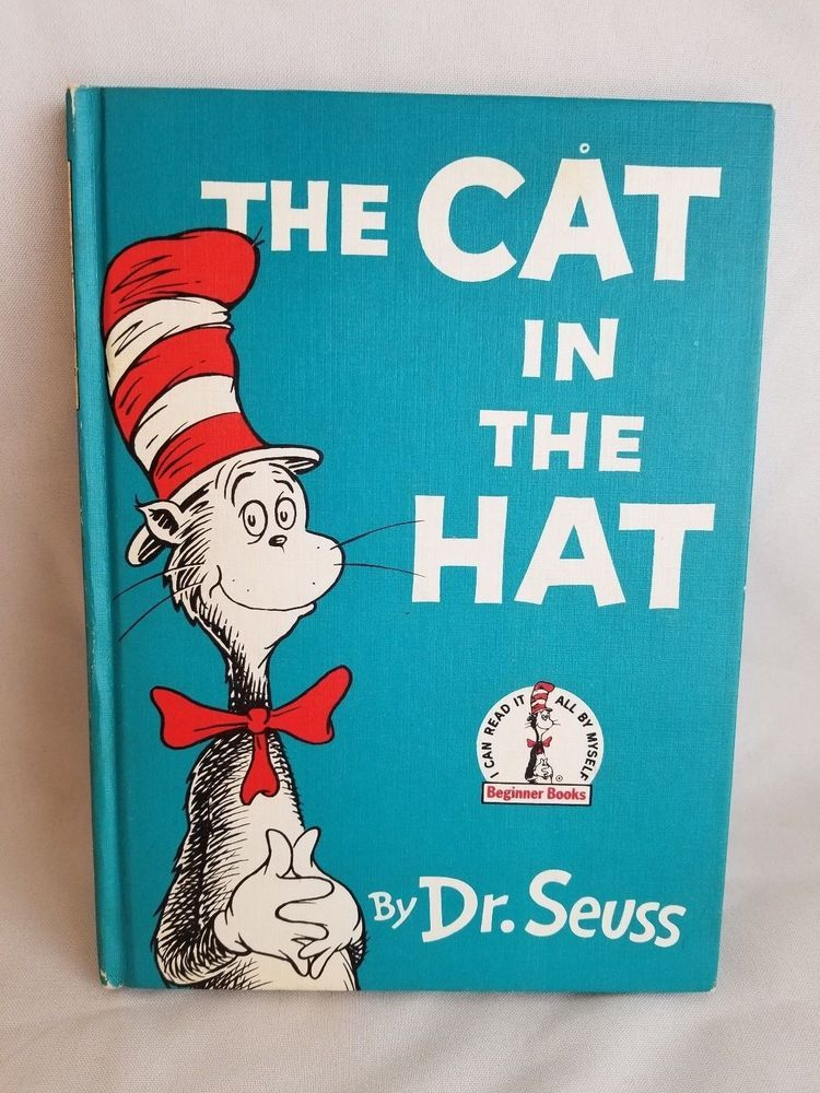 The Cat In The Hat Dr Seuss Book Club Edition 1957 The Hat Book Seuss Dr Seuss Book
