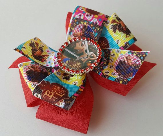 The Book of Life Maria Posada Hair Bow with by BlingFlowersAndCo