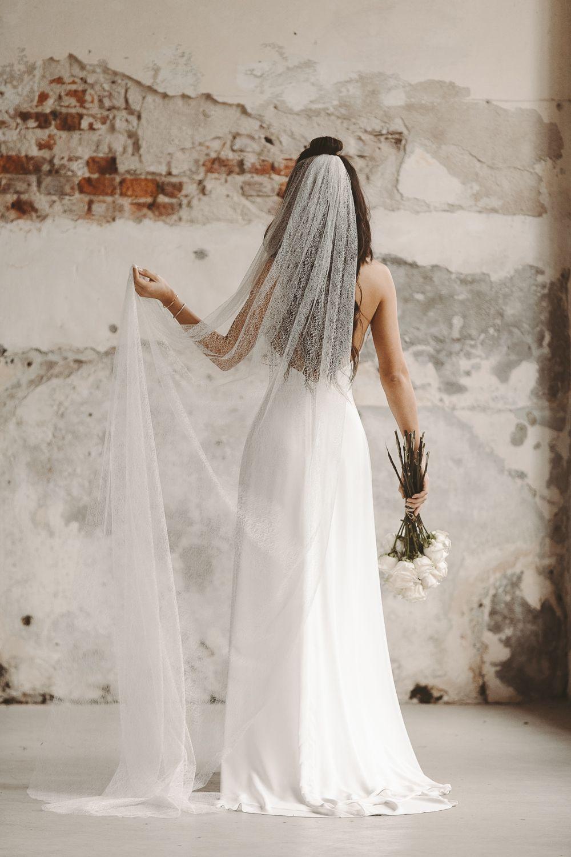 Boho Schleier Vintage Hochzeitskleid Spitze  Schleier hochzeit