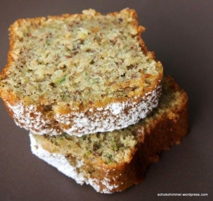 Photo of Juicy zucchini nut cake & a sugar-sweet floral greeting – chocolate heaven