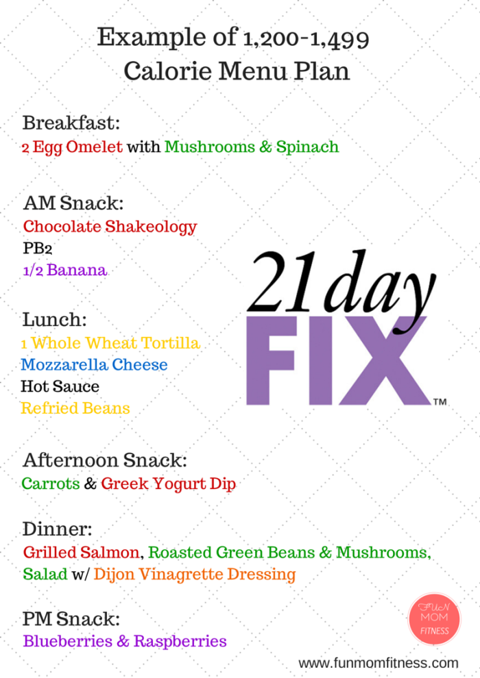 21 day fix food ideas sample menu plan for 1200 1499 calories interested