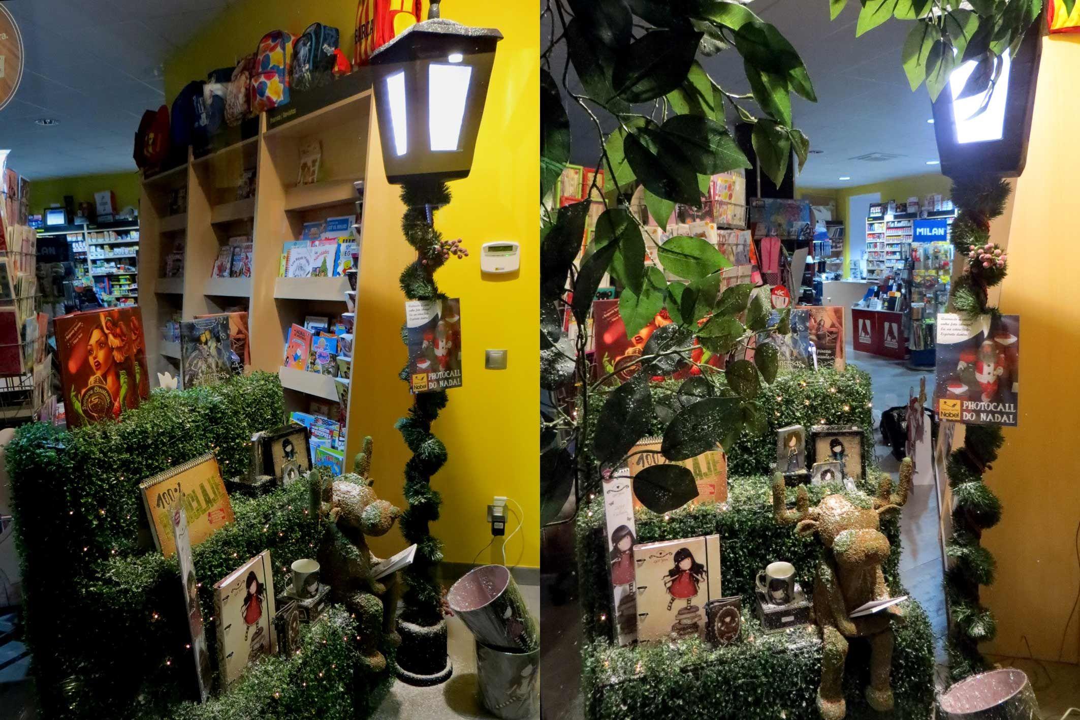Decorar Escaparate Libreria Navidad