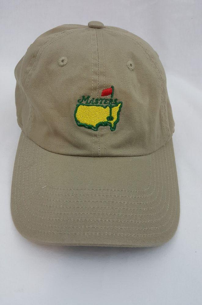 The Masters Augusta National Golf Tournament Adjustable Slouch Tan Beige Hat Beige Hat Golf Tips Golf Tournament