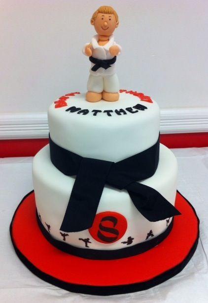 Karate cake Cakes Pinterest Karate cake and Cake