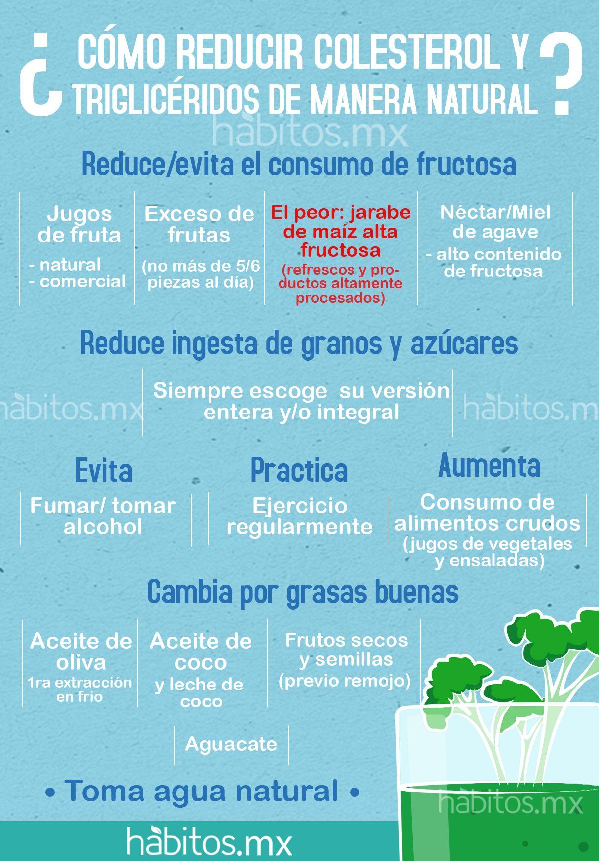 Dieta para bajar colesterol y trigliceridos