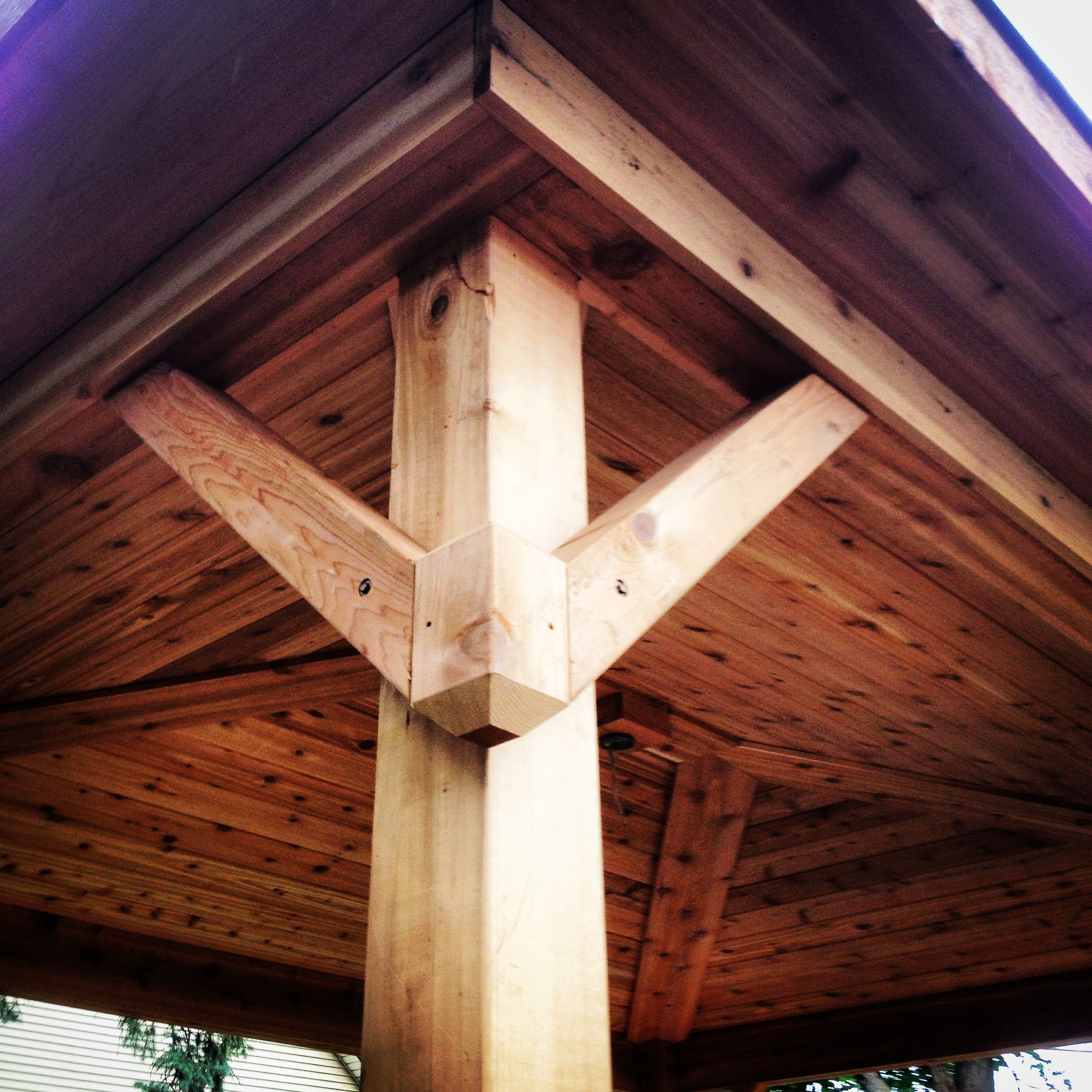 Pergola Ceiling Designs: Covered Porch Gusset Design. Pergola, Tongue And Groove