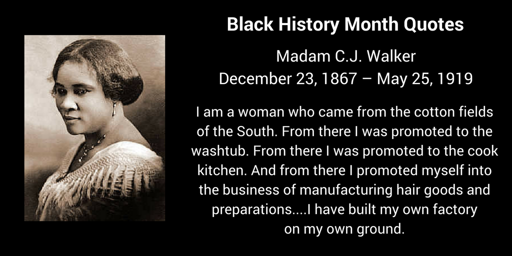Madam Cj Walker Quotes Glamorous Madam C.jwalker 12231867  5251919  Black History Month . Design Inspiration