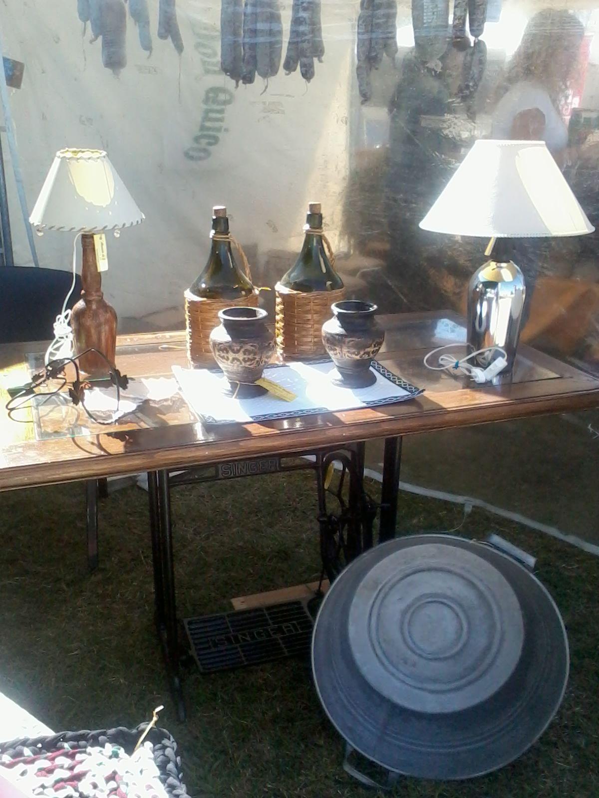 Mesa escritorio con pata maquina de cocer antigua tapa - Mesas de escritorio antiguas ...