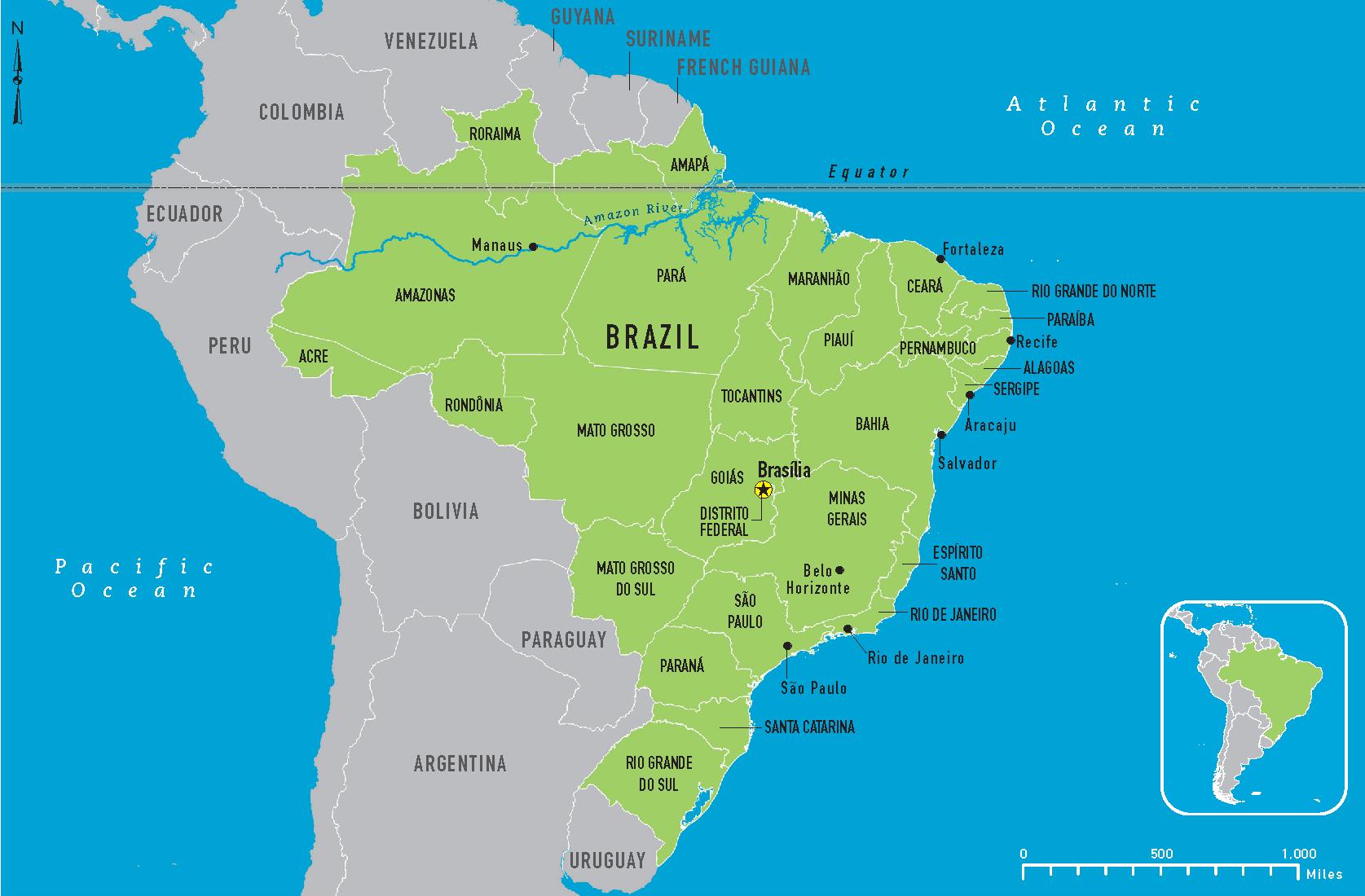 brazil map - Free Large Images   mapas   Pinterest   Brazil and Maps