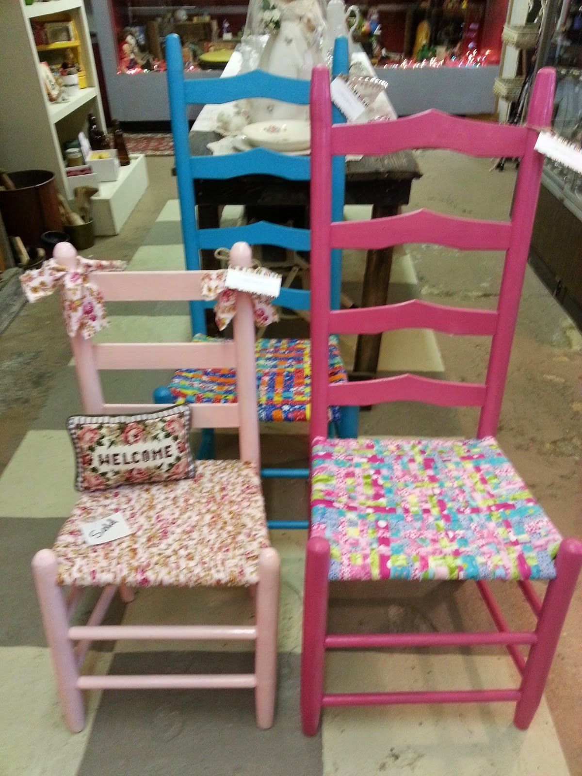 DIY: How To Weave A Fabric Chair Seat   Lots Of Info On Choosing The Right  Fabric, Cutting The Strips, What Type Of Chair To Use And How To Create A  Fabric ...
