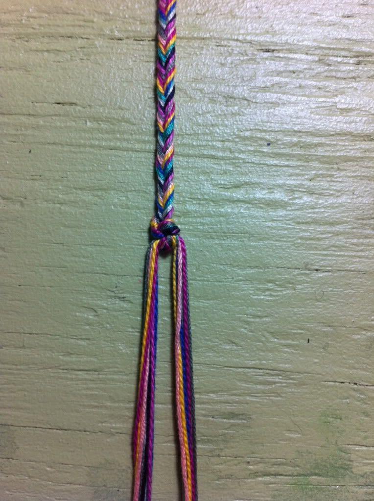 Fishtail friendship bracelet supplies embroidery
