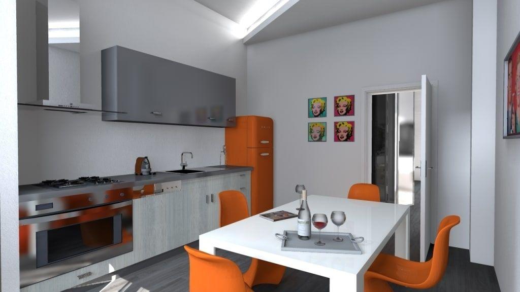 Ristrutturazione, bologna cucina minimalista di arch. emanuele tona minimalista