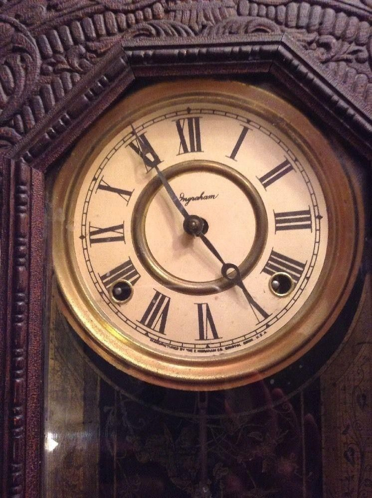 VINTAGE BELKNAP HARDWARE TORCHLIGHT SERIES KITCHEN GINGERBREAD CLOCK INGRAHAM | #1840712804