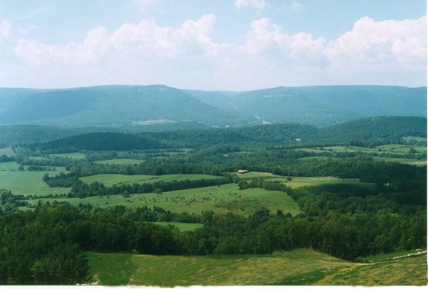 A view of the Sequatchie Valley in Dunlap Tennessee