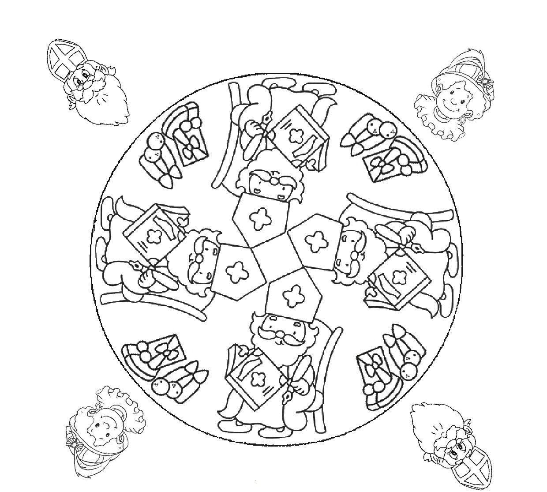 Mandala Sinterklaas Sinterklaas Knutselen Sinterklaas Mandala