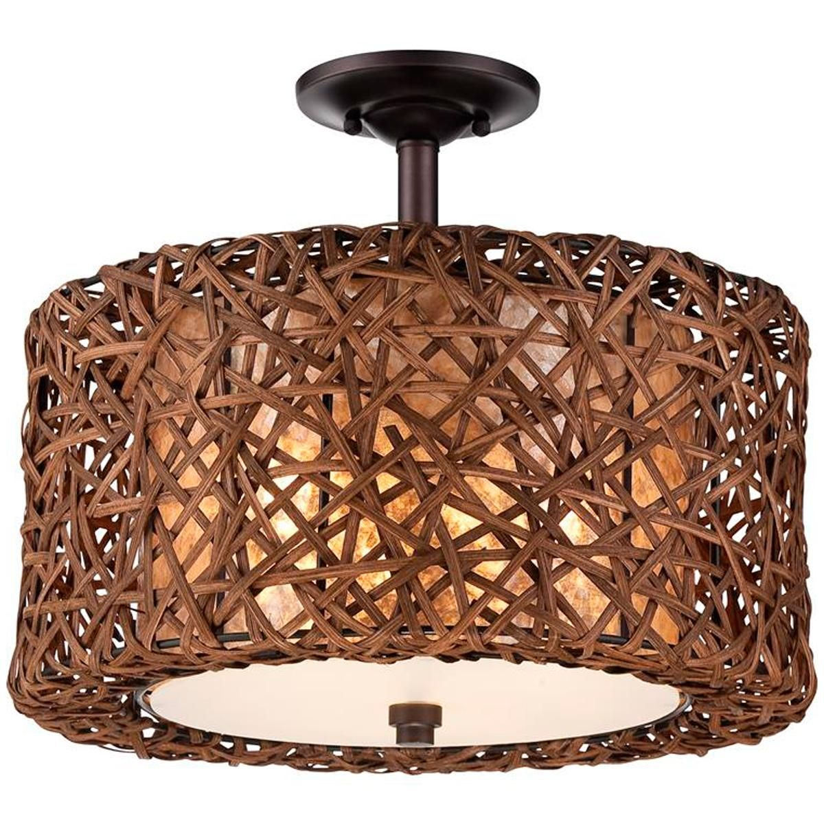 Modern woven rattan ceiling light casual with a touch of beach modern woven rattan ceiling light casual with a touch of beach chic and modern rustic style arubaitofo Image collections