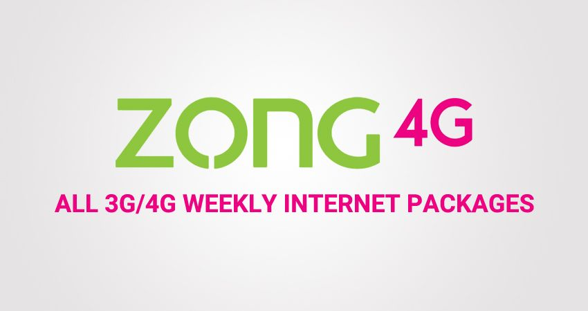 Here Is List Of All Weekly Zong 3g And 4g Internet Packages And All In 1 Bundles With Price And Subscribe Code List W Internet Packages 4g Internet Internet