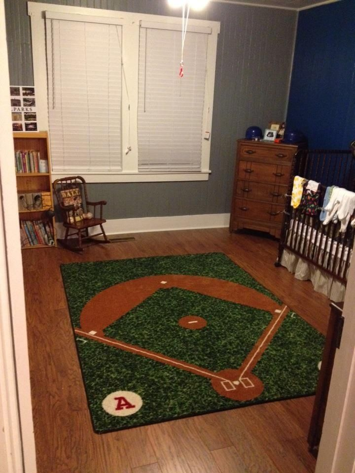 Baseball Room Grey And Blue Together Helps Me To