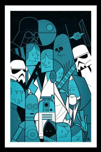 star wars print by ale giorgini anytime anywhere in space