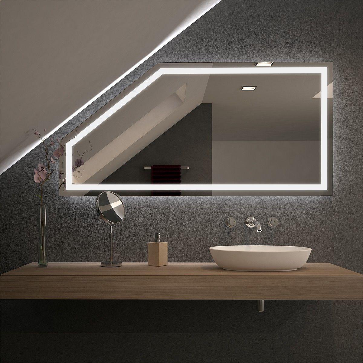 Spiegel Fur Dachschragen Mit Led Beleuchtung Fiola Badezimmer Dachschrage