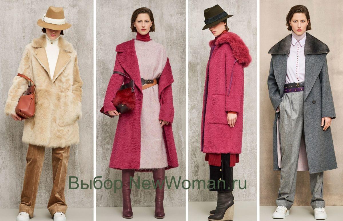 3dcc6c9b1dc Дизайнерский дом Agnona - фасоны модных пальто на сезон Осень-Зима 2018-2019  для