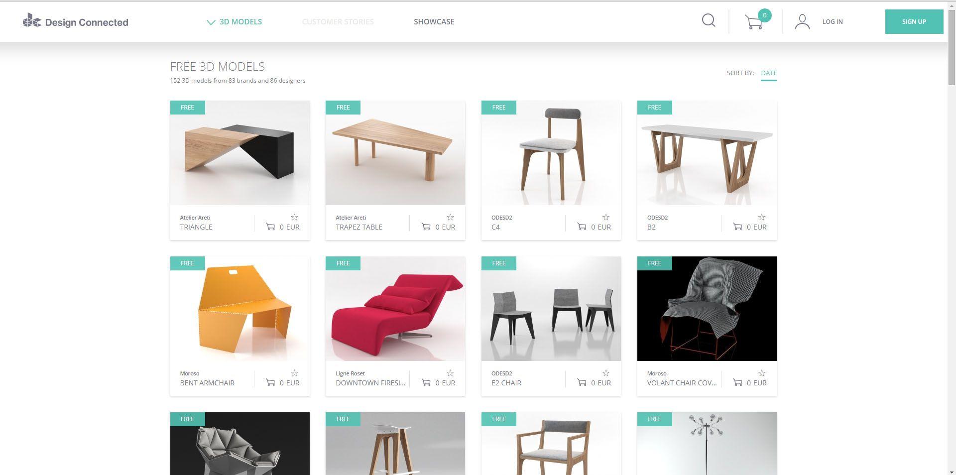 Design connected modelos 3d para interiorismo gratis for Programas 3d interiorismo