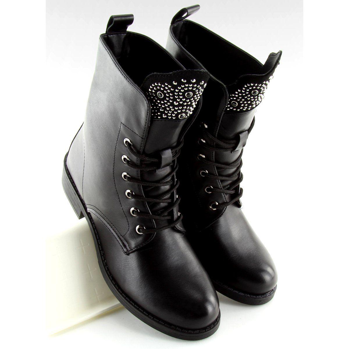 Botki Workery Czarne Jw11 Black Biker Boot Boots Shoes