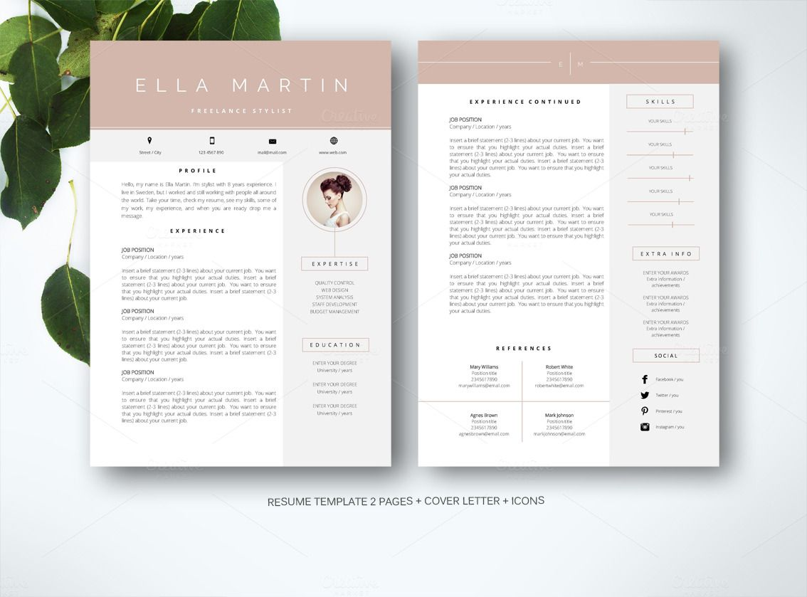 Resume Template For Ms Word By Fortunelle Resumes On Creative