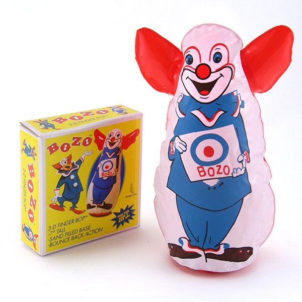 Bozo The Clown Finger Bop Bag Toy Toys Novelties 5 Retroplanet