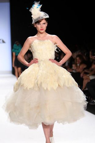 Kennley Collins Project Runway Wedding Dressminus The Hat And