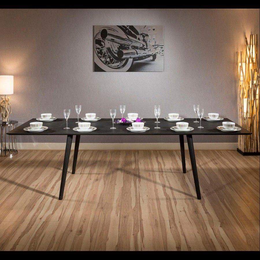 624df1bbbd4d0 Quatropi Luxury Extending Danish Dining Table Solid Black Oak 1.7-2.7m