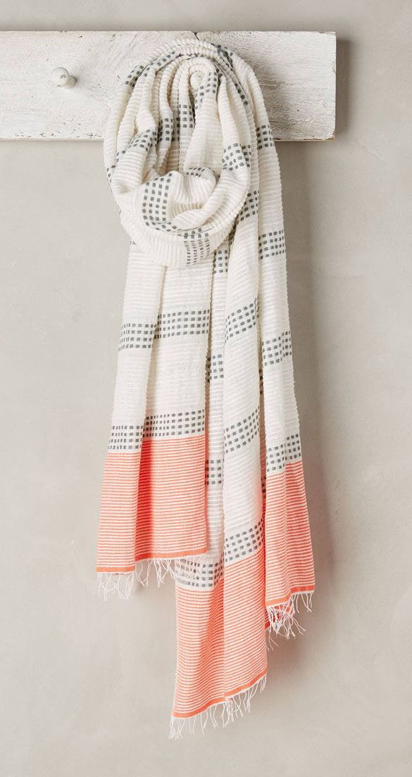 Striped Beehive Scarf