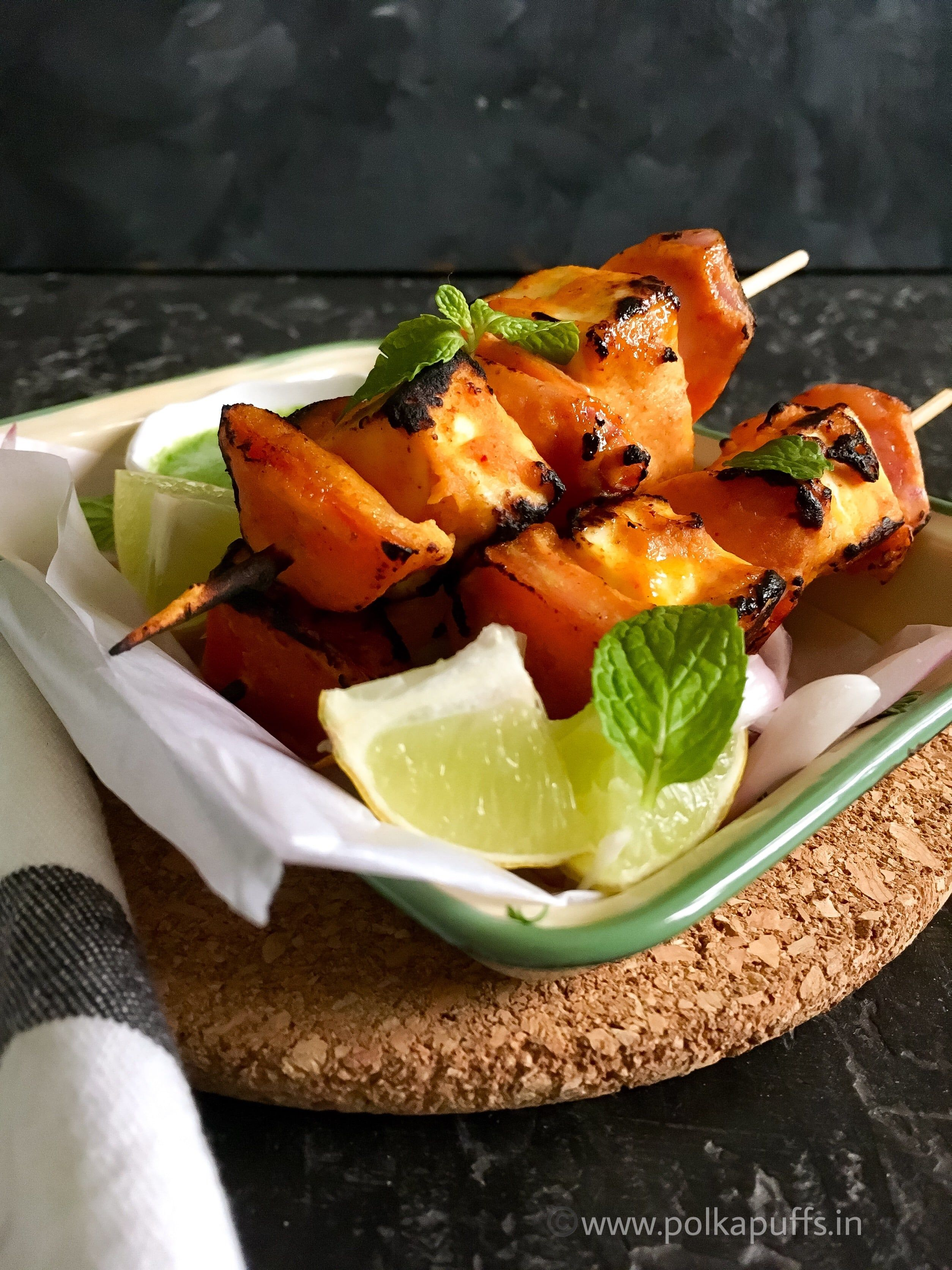 Restaurant Style Paneer Tikka - Stove Top Method Is A