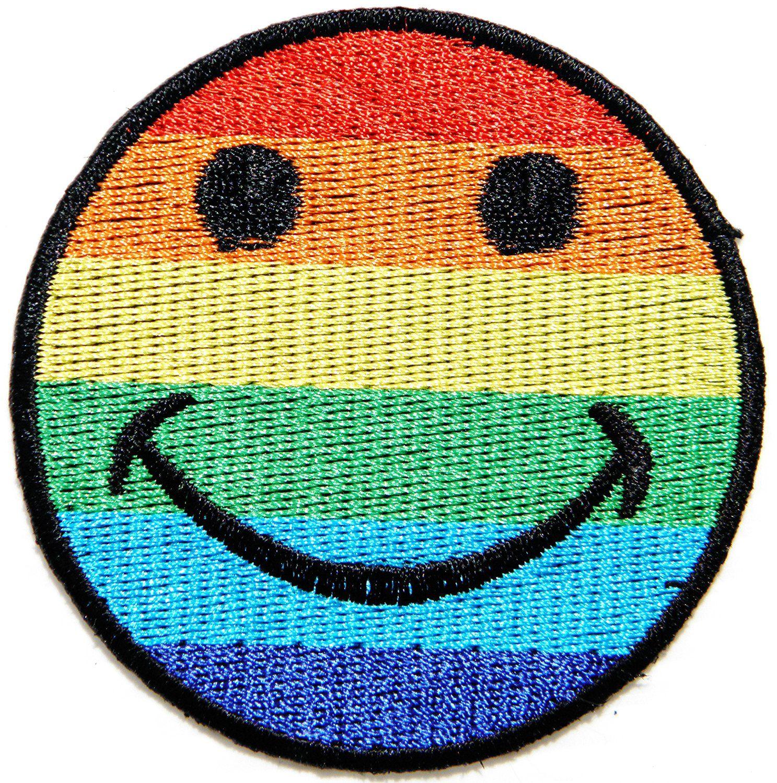 AmazonSmile: Rainbow Sun Full Moon Smile Happy Face Logo Hippie Retro Kid Baby…