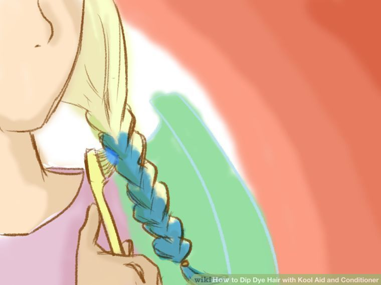 How to Dip Dye Hair with Kool Aid and Conditioner: 13 Steps