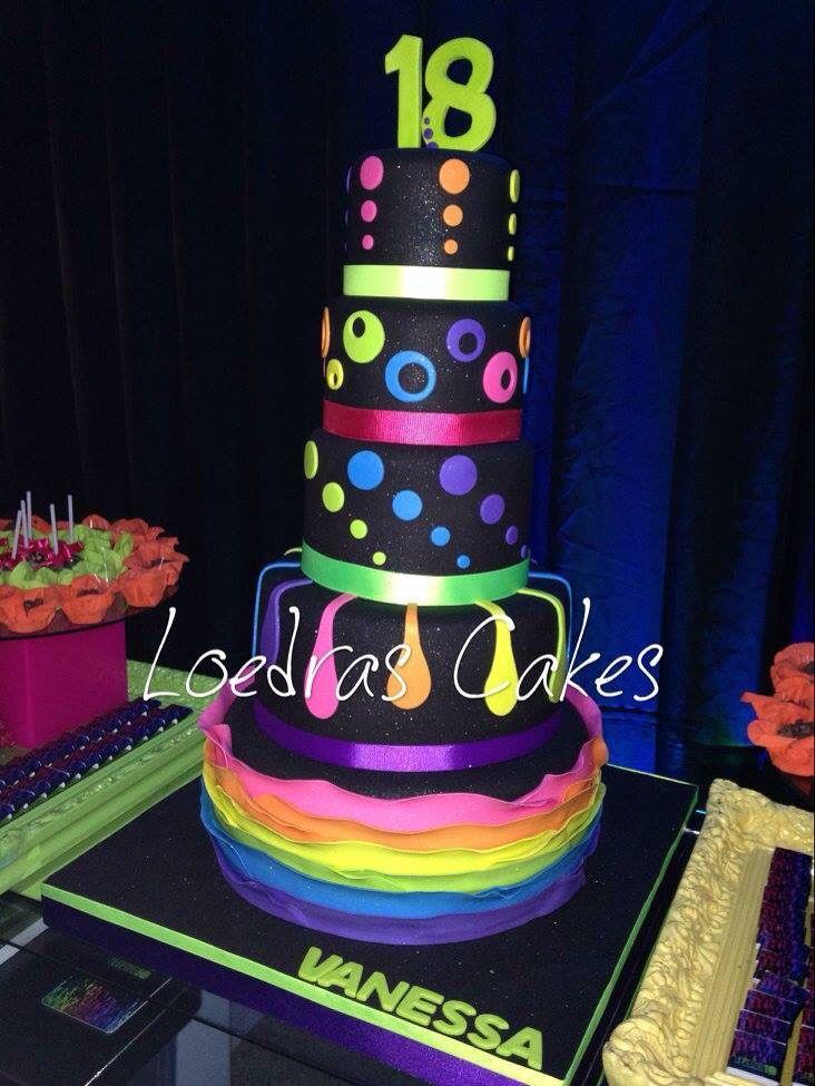 Paint Splatter Cake  Cupcakes Paint Splatter Cake Diy Cake - Neon birthday party cakes