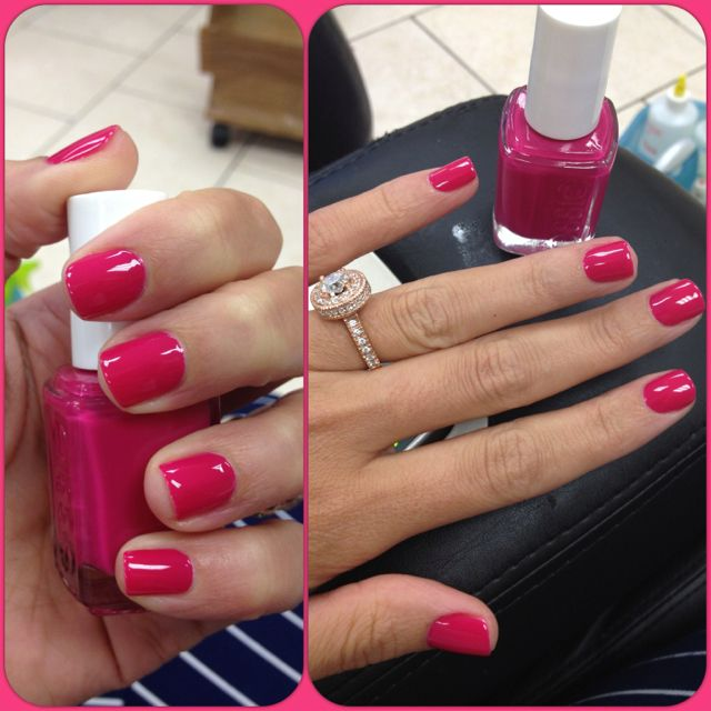 Bachelorette Bash by Essie -- about to buy this haha. (:   Nails ...