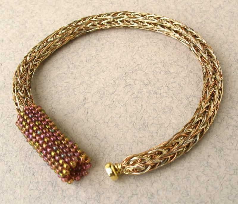 viking knit | Gold Tones Woven Wire Viking Knit Bracelet by ...