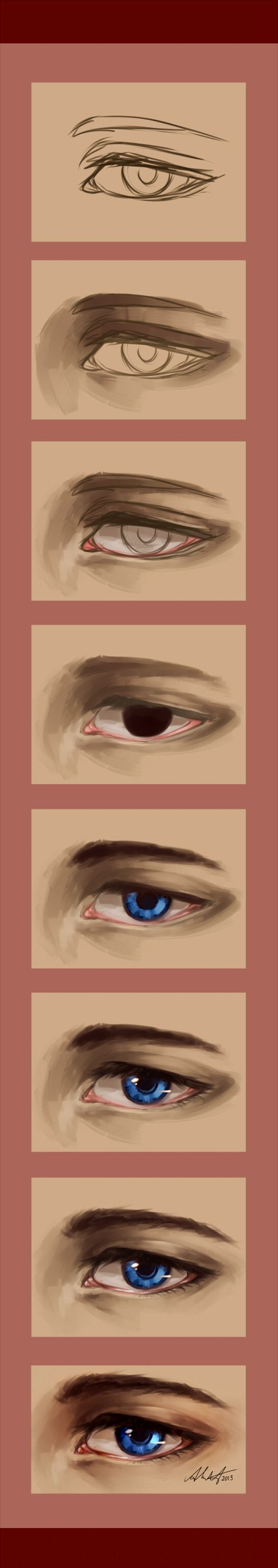 A semi-realistic eye tutorial #realisticeye