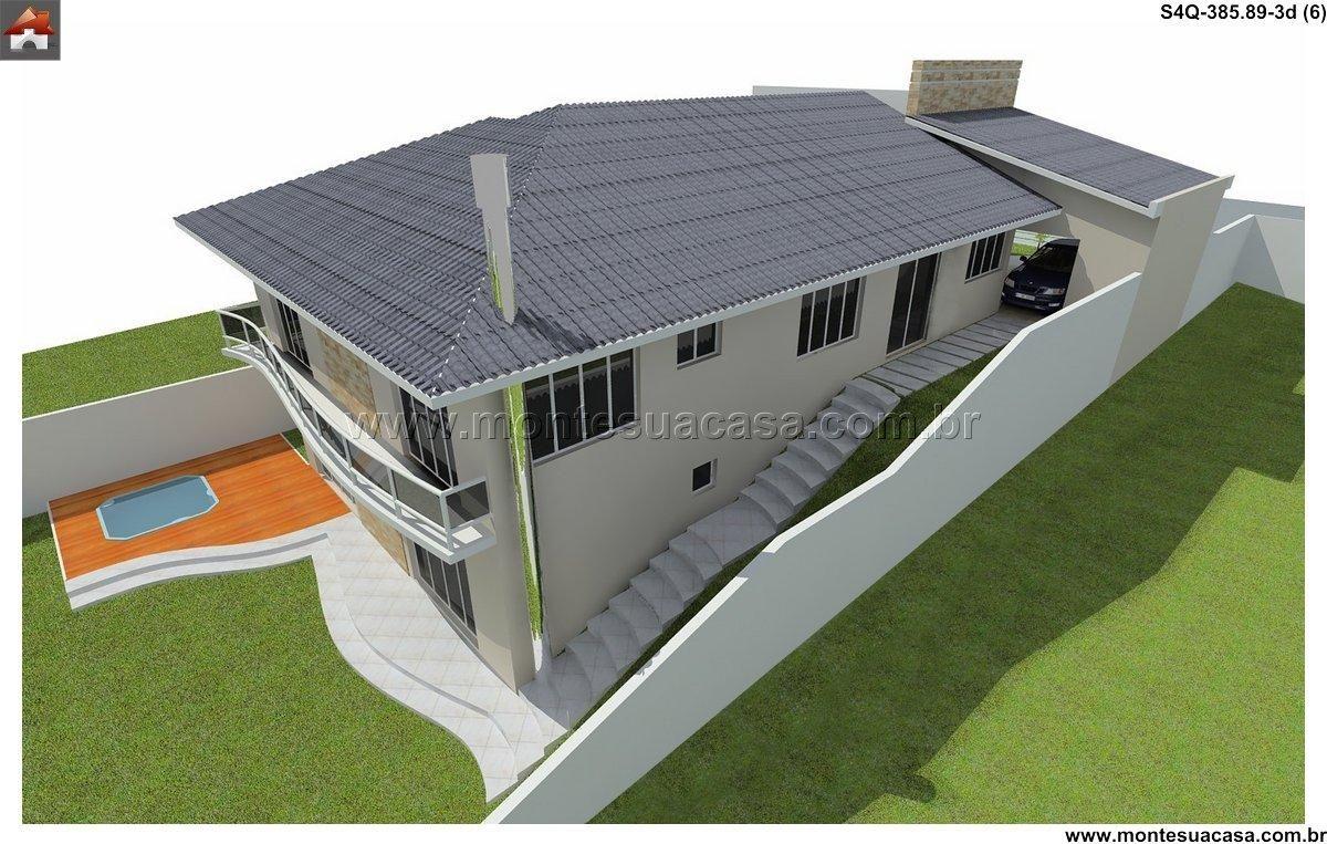 Sobrado - 4 Quartos - 385.89m² - Monte Sua Casa