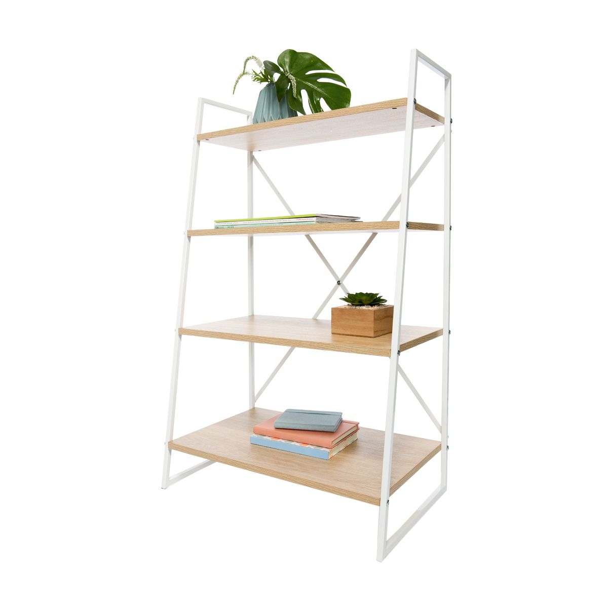 Scandi ladder bookshelf kmart hxwxd furniture