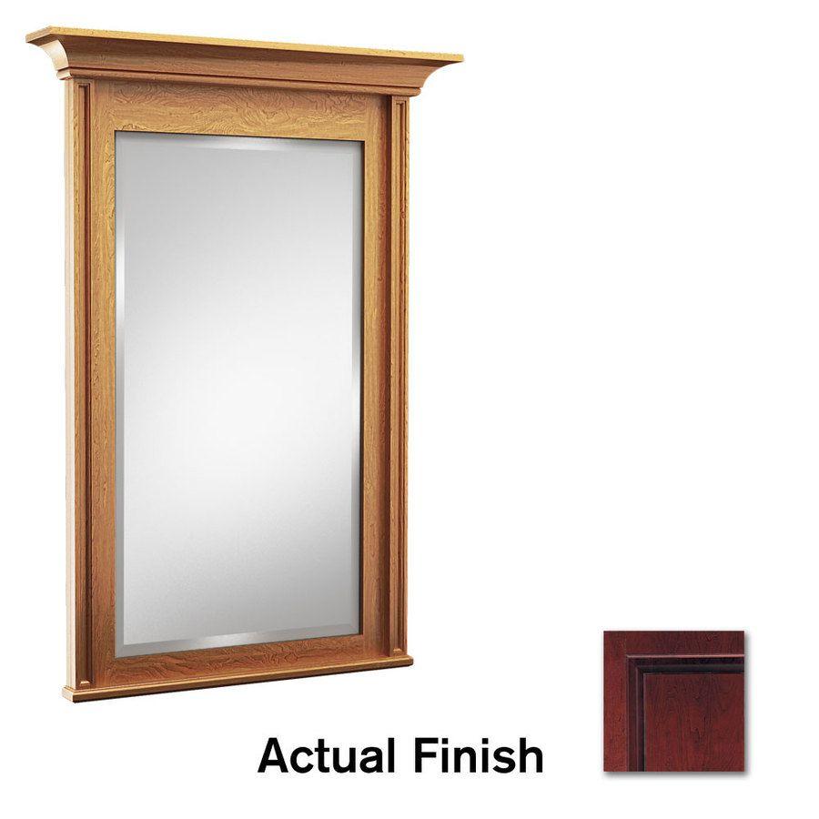Image On KraftMaid in W x in H Cabernet Rectangular Bathroom Mirror