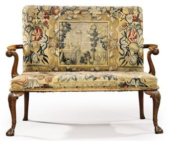 Cherub Country Houses 17th Century Georgian Colonial Upholstery The Back Couch Ears